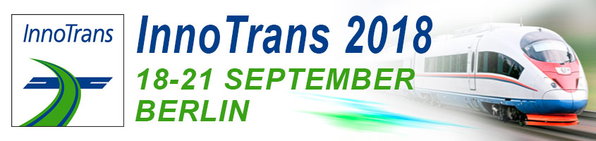 The ad of the International Trade Show for Transport Technology in Germany InnoTrans-2018, Berlin