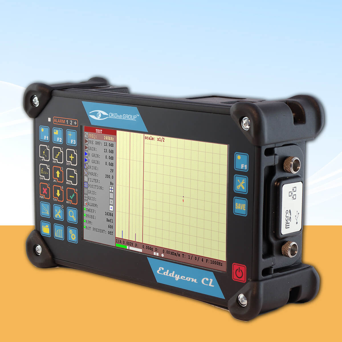 Eddy current flaw detector Eddycon CL