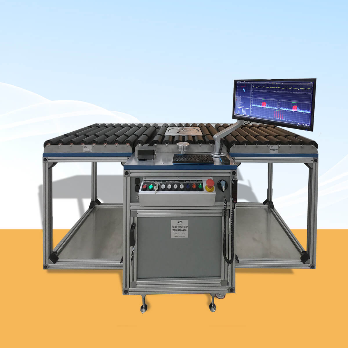 Eddy current aircraft wheel inspection system SMARTSCAN