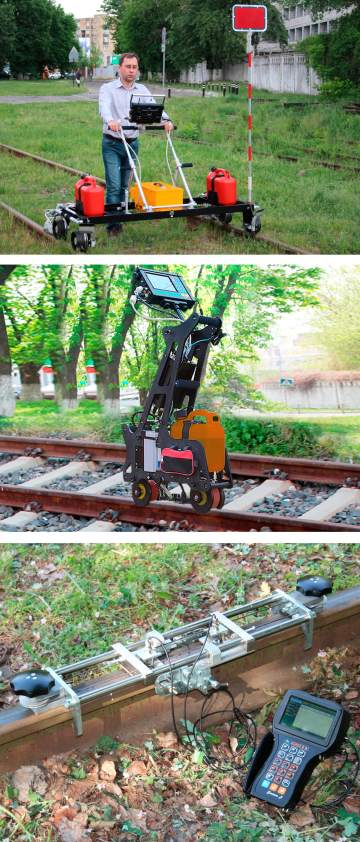 ultrasonic rail testing equipment UDS2-77, UDS2-73 and USR-01