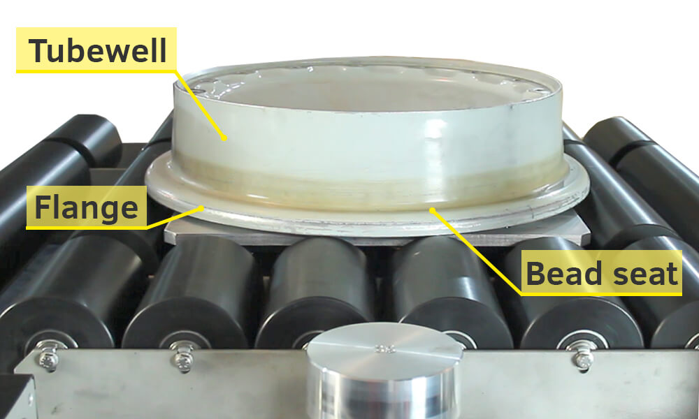 Aircraft wheel surfaces which can be tested by EC inspection system SmartScan