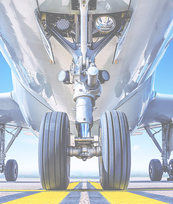 Wheels of the plane which can be tested by aircraft wheel inspection system SmartScan