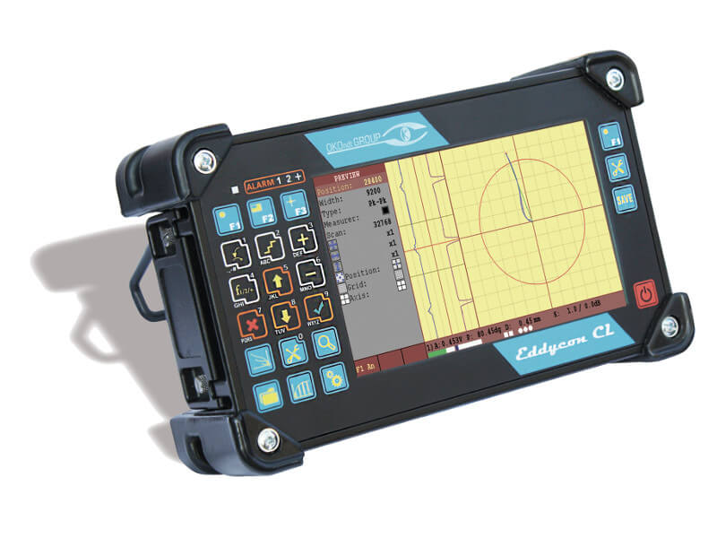 Portable ET flaw detector with a large display Eddycon CL