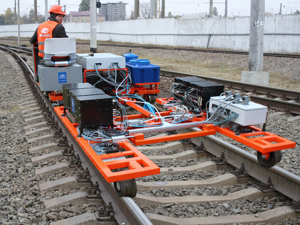 Trolley (carriage) of the high-speed rail inspection system OKOSCAN 73HS